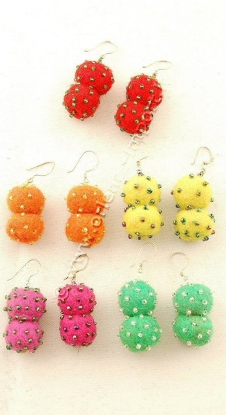 BOILED WOOL EARRINGS LC-OR04 - Oriente Import S.r.l.