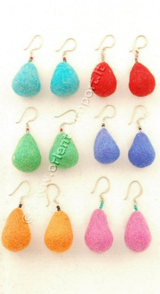 BOILED WOOL EARRINGS LC-OR03 - Oriente Import S.r.l.