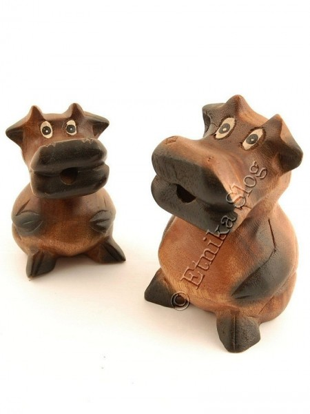 WOODEN ANIMAL FIGURES GI-FAMU01-02 - Oriente Import S.r.l.