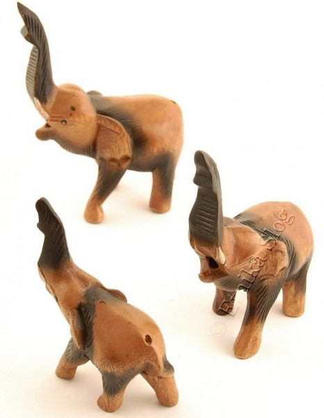 WOODEN ANIMAL FIGURES GI-FAEL01-02-03 - Oriente Import S.r.l.