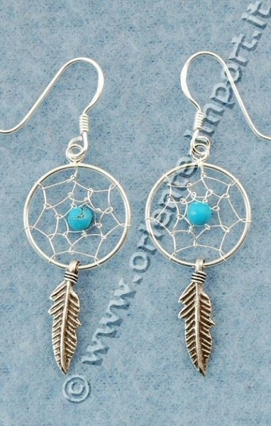 DREAMCATCHER EARRINGS ARG-1OR460-01 - Oriente Import S.r.l.