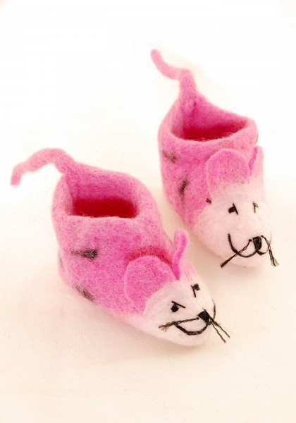 WOOL FELT SMALL SHOES LC-SC14-PK - Oriente Import S.r.l.