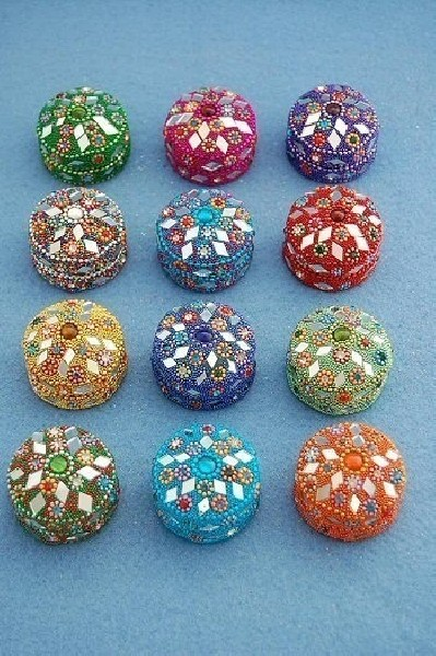 BOXES WITH MIRRORS AND GLITTER BX-BRL04-03 - Oriente Import S.r.l.