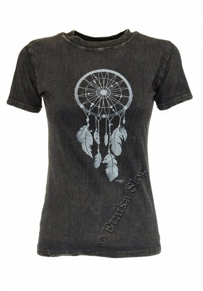 T-SHIRT WOMEN'S COTTON - STONEWASH WITH PRINT AB-NPM03-08B - Oriente Import S.r.l.
