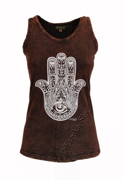 COTTON TANK TOPS - STONEWASHED WITH PRINT AB-NPM04-07 - Oriente Import S.r.l.