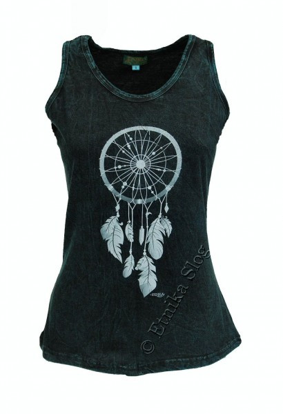COTTON TANK TOPS - STONEWASHED WITH PRINT AB-NPM04-08 - Oriente Import S.r.l.