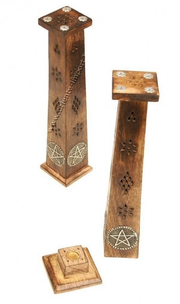 INCENSE HOLDER WOODEN COLUMN PI-BG45 - Oriente Import S.r.l.
