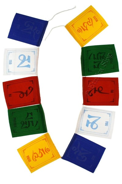 FLAGS AND PRAYER WHEEL OG-BAN12-01 - Oriente Import S.r.l.