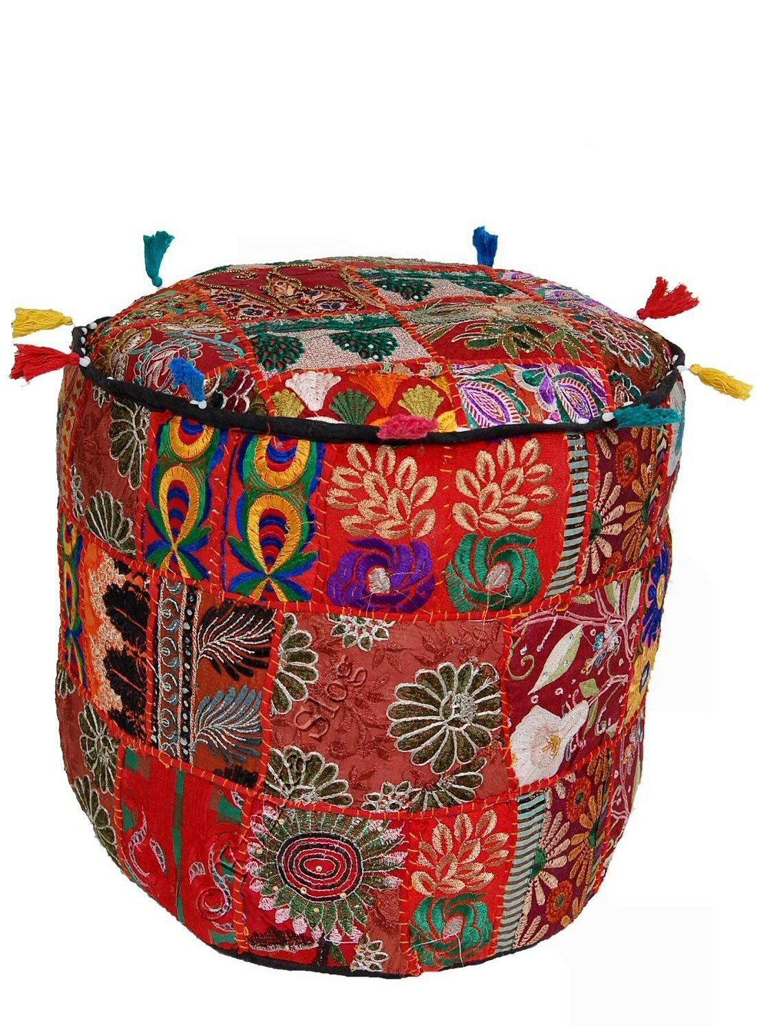 CUSCINO POUF INDIANO CS-GA01 - Oriente Import S.r.l.
