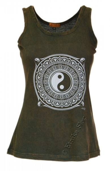 COTTON TANK TOPS - STONEWASHED WITH PRINT AB-NPM04-18 - Oriente Import S.r.l.