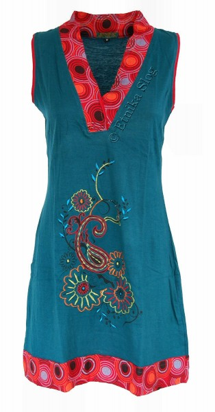 SHORT SLEEVE AND SLEEVELESS COTTON DRESSES AB-BSV18 - Oriente Import S.r.l.