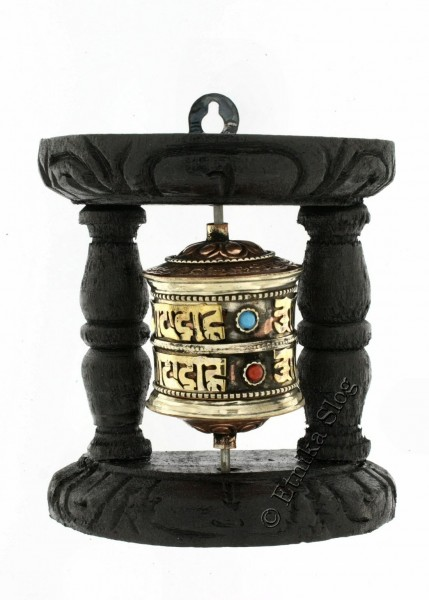 FLAGS AND PRAYER WHEEL MO-PRE10 - Oriente Import S.r.l.