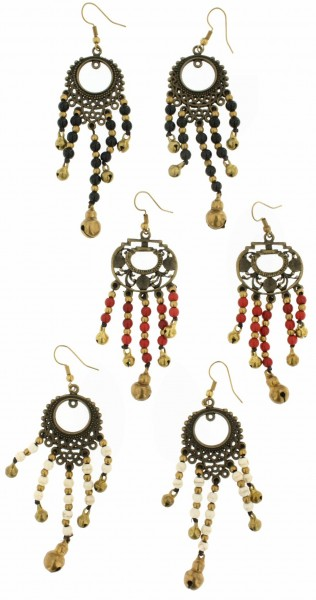 MIXED MATERIALS EARRINGS TH-BGOR19-02 - Oriente Import S.r.l.