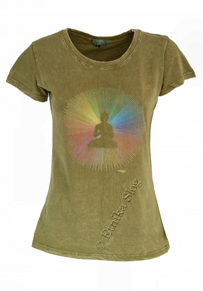 T-SHIRT WOMEN'S COTTON - STONEWASH WITH PRINT AB-NPM03-16C - Etnika Slog d.o.o.