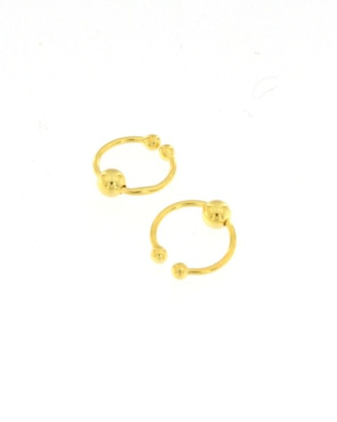 MINI EARRINGS AND NOSE RINGS - SEPTUM ARG-1OR180-08 - Oriente Import S.r.l.