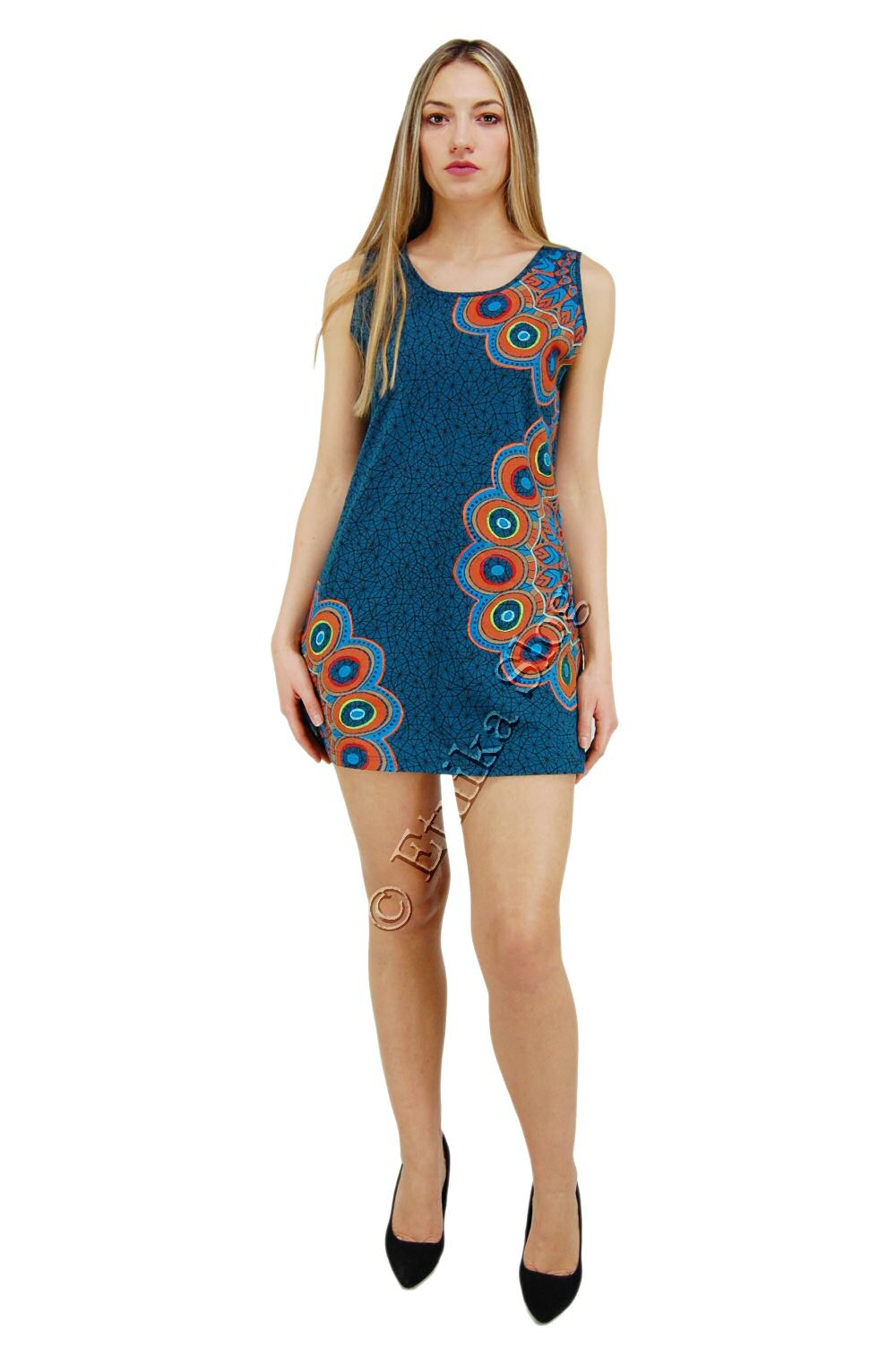 SHORT SLEEVE AND SLEEVELESS COTTON DRESSES AB-BSV43 - Oriente Import S.r.l.