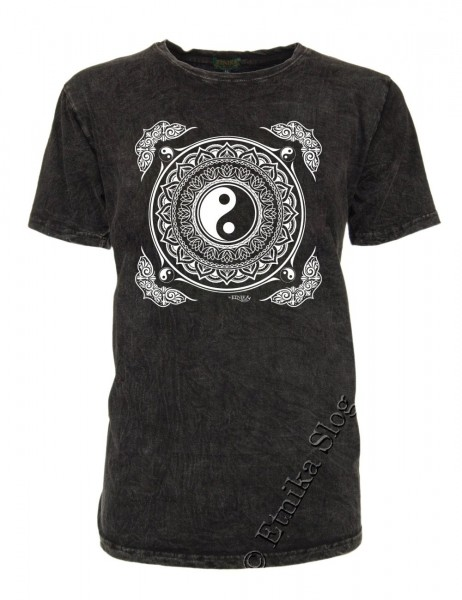MEN'S COTTON T-SHIRT - STONEWASHED WITH PRINT AB-NPM02-20B - Oriente Import S.r.l.