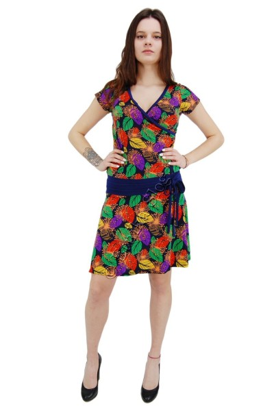 SUMMER JERSEY DRESSES WITH SHORT SLEEVES AB-MRS344-Q7 - Oriente Import S.r.l.