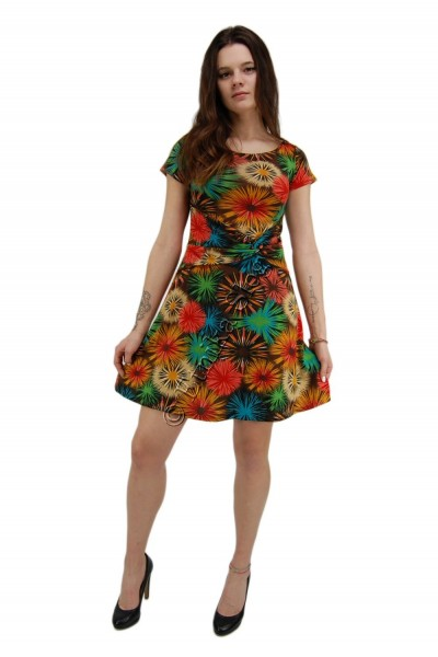 SUMMER JERSEY DRESSES WITH SHORT SLEEVES AB-MRS421-B - Oriente Import S.r.l.