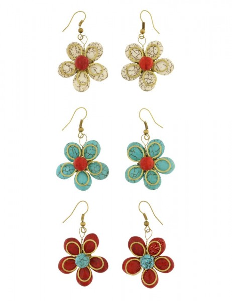 MIXED MATERIALS EARRINGS TH-BGOR17 - Oriente Import S.r.l.