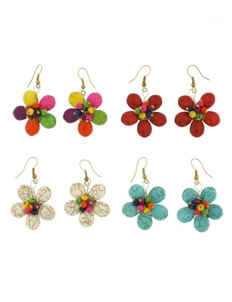 MIXED MATERIALS EARRINGS TH-BGOR16 - Oriente Import S.r.l.