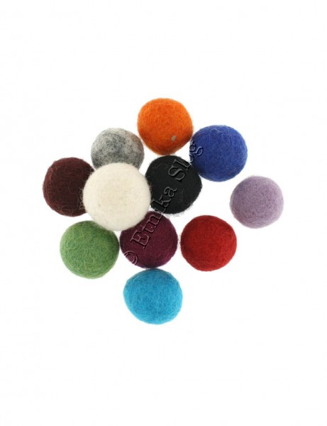 BALLS IN FELT WOOL LC-PAL01-MIX - Oriente Import S.r.l.