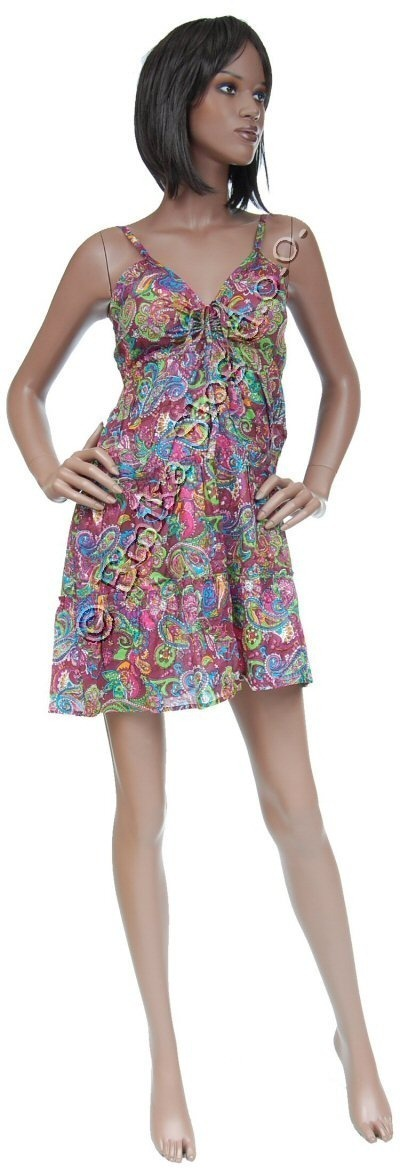 SHORT SLEEVE AND SLEEVELESS COTTON DRESSES AB-AIV04 - Oriente Import S.r.l.