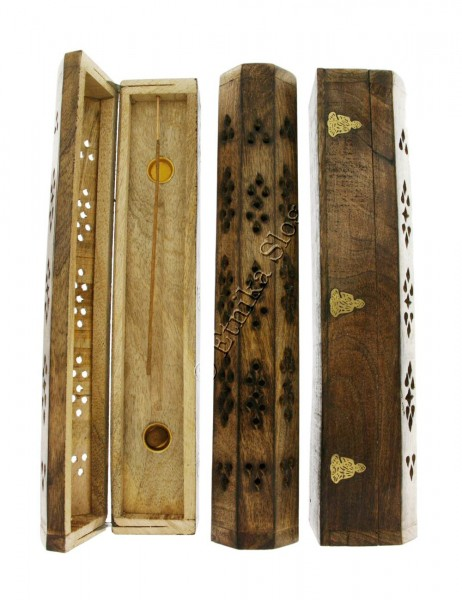 INCENSE HOLDERS WOODEN BOX PI-BG03-03 - Oriente Import S.r.l.