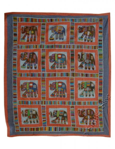 EMBROIDERED AND DECORATED ORIENTAL ETHNIC INDIAN TOWELS TI-PKEL01-02 - Oriente Import S.r.l.