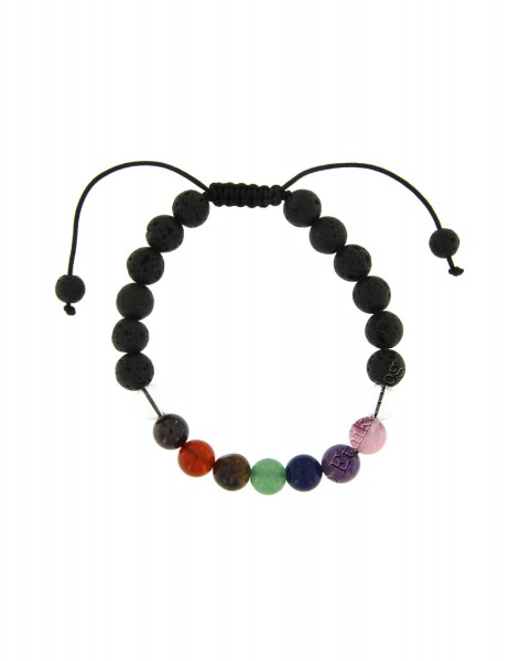 STONE BRACELET OF 8 - 10 mm - WITH TWINE BR-MA83-01 - Oriente Import S.r.l.
