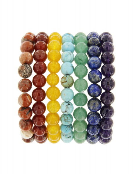 STONE BRACELET OF 8 - 10 mm - WITH ELASTIC PD-BRSET02 - Oriente Import S.r.l.