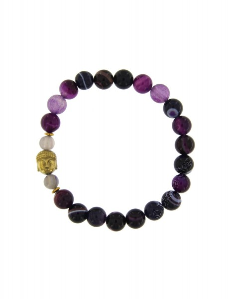 BUDDHA STONE BRACELET OF 8 mm PD-BR10-13 - Oriente Import S.r.l.