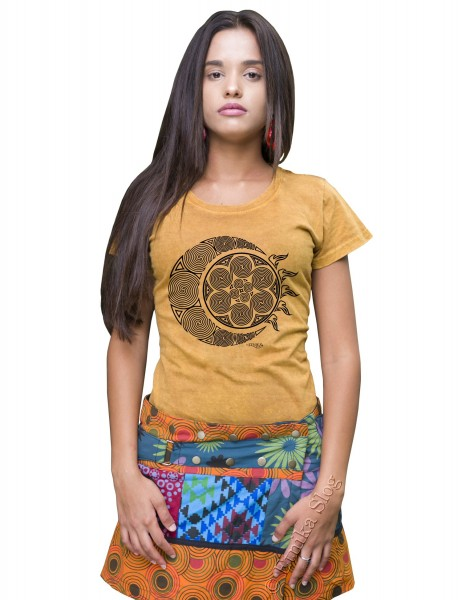 COTTON T-SHIRTS - STONEWASHED WITH PRINT AB-NPM03-44 - Oriente Import S.r.l.