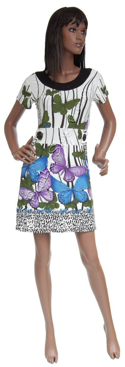 SUMMER JERSEY DRESSES WITH SHORT SLEEVES AB-MRS253AF - Oriente Import S.r.l.