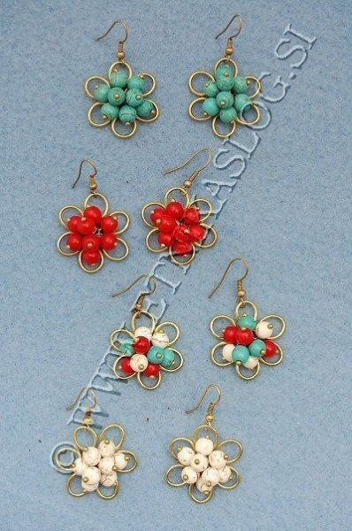 MIXED MATERIALS EARRINGS TH-BGOR06 - Oriente Import S.r.l.