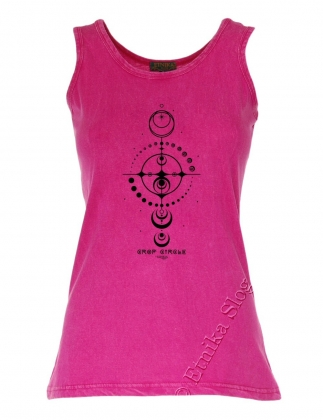 COTTON TANK TOPS - STONEWASHED WITH PRINT
