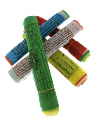 TIBETAN FLAGS AND DECORATIVE BANDS