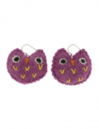 BOILED WOOL EARRINGS